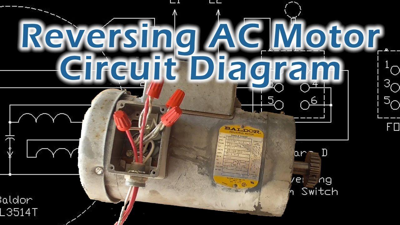 Reverse Baldor Single Phase Ac Motor Circuit Diagram - Youtube - Ac Motor Reversing Switch Wiring Diagram