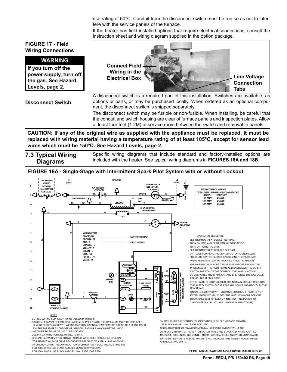 Reznor Heater Wiring Diagram | Manual E-Books - Reznor Heater Wiring Diagram