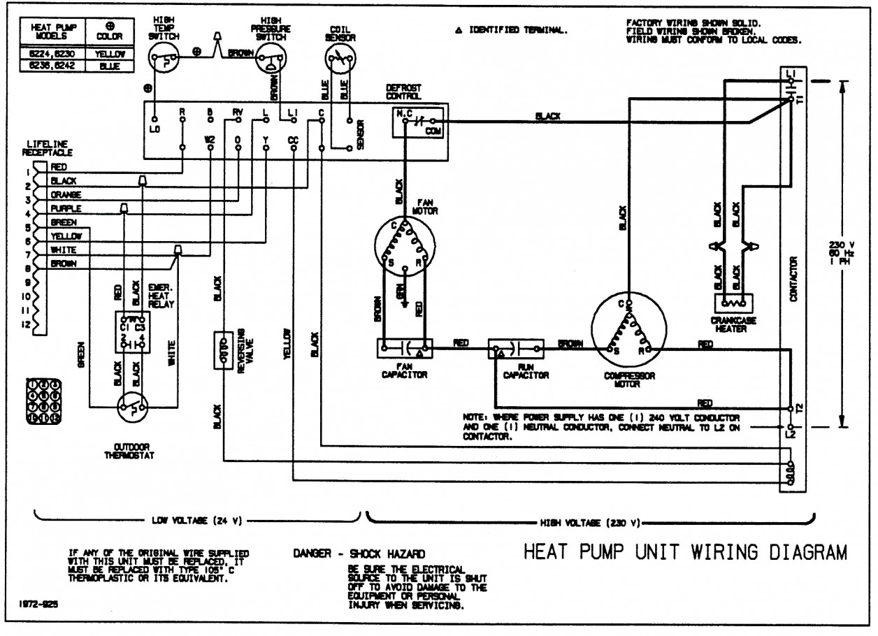 Rheem Heat Pump Low Voltage Wiring Diagram - Wiring Diagram Description - Rheem Heat Pump Wiring Diagram