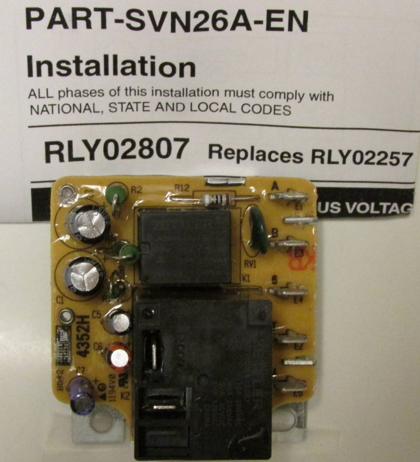 Rly02807 American Standard Trane Air Handler Fan Time Delay Relay - Air Handler Fan Relay Wiring Diagram