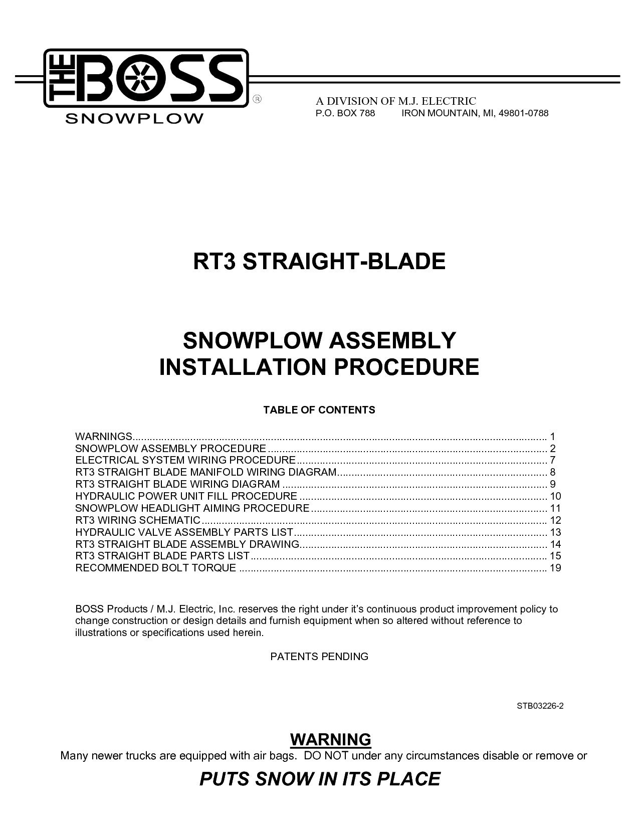 Rt3 Boss Plow Wiring Diagram | Wiring Diagram - Boss Plow Wiring Diagram