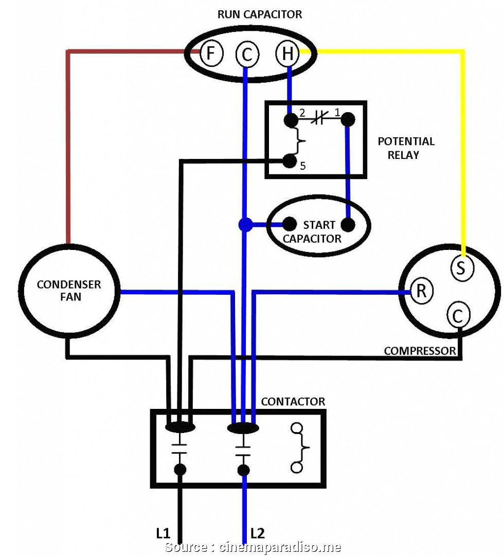 Run Capacitor Wiring Diagram Air Conditioner | Wiring Diagram - Air Conditioner Wiring Diagram Capacitor