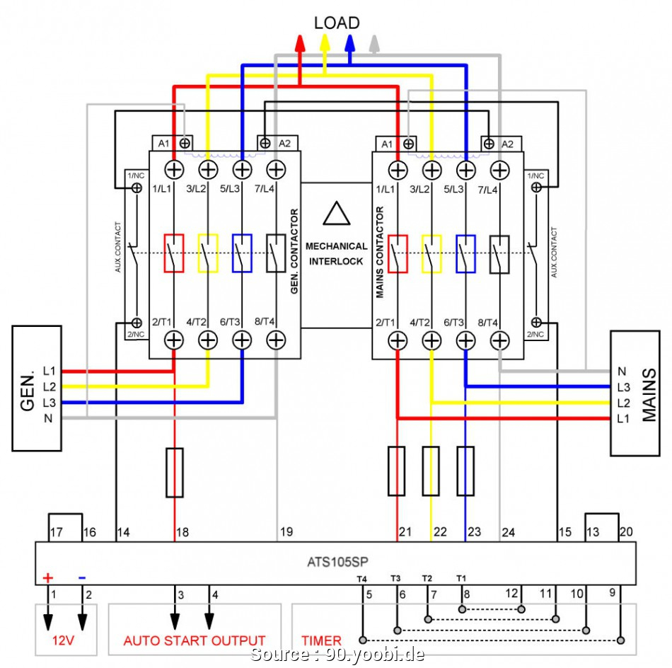 Rv Power Transfer Switch Wiring Diagram | Wiring Diagram - Rv Transfer Switch Wiring Diagram