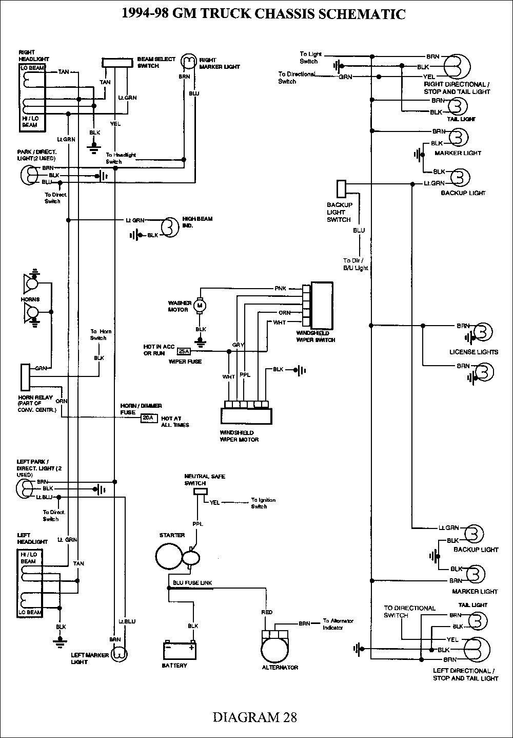 1995 S10 4x4 Wiring Diagram