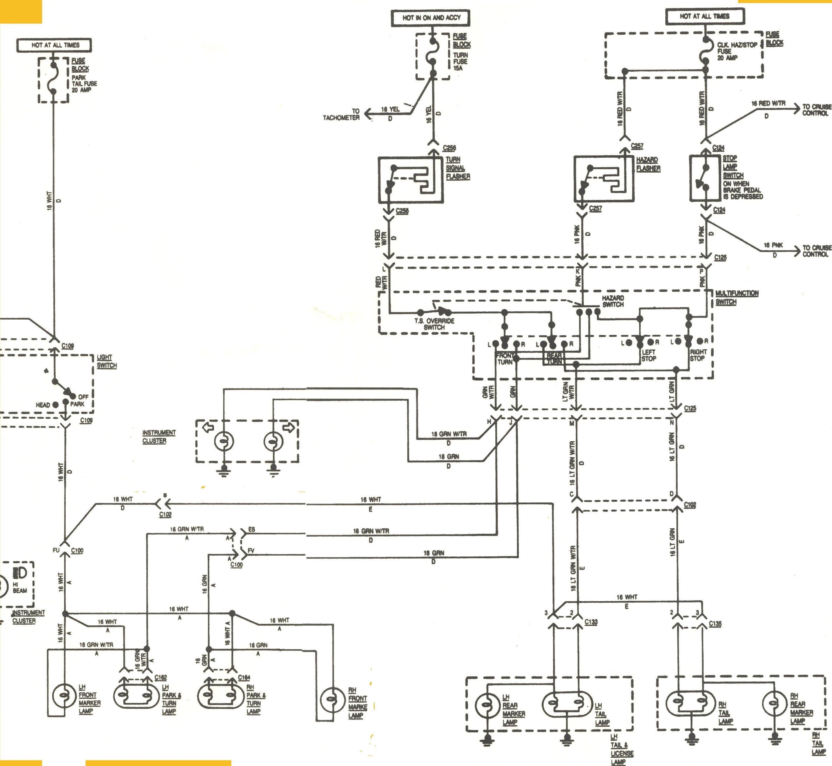 S10 Turn Signal Wiring Diagram - Wiring Diagrams Hubs - Turn Signal Wiring Diagram