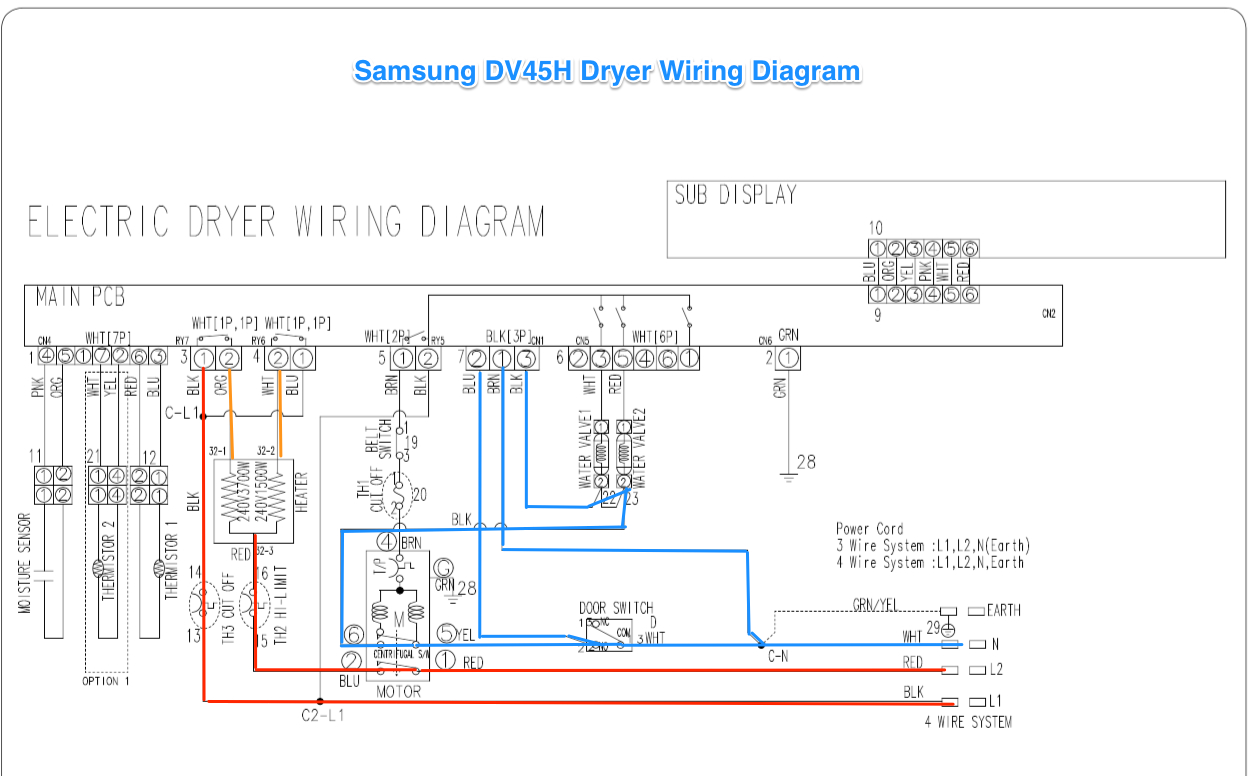 Samsung Dv42H Dryer Wiring Diagram - The Appliantology Gallery - Dryer Wiring Diagram