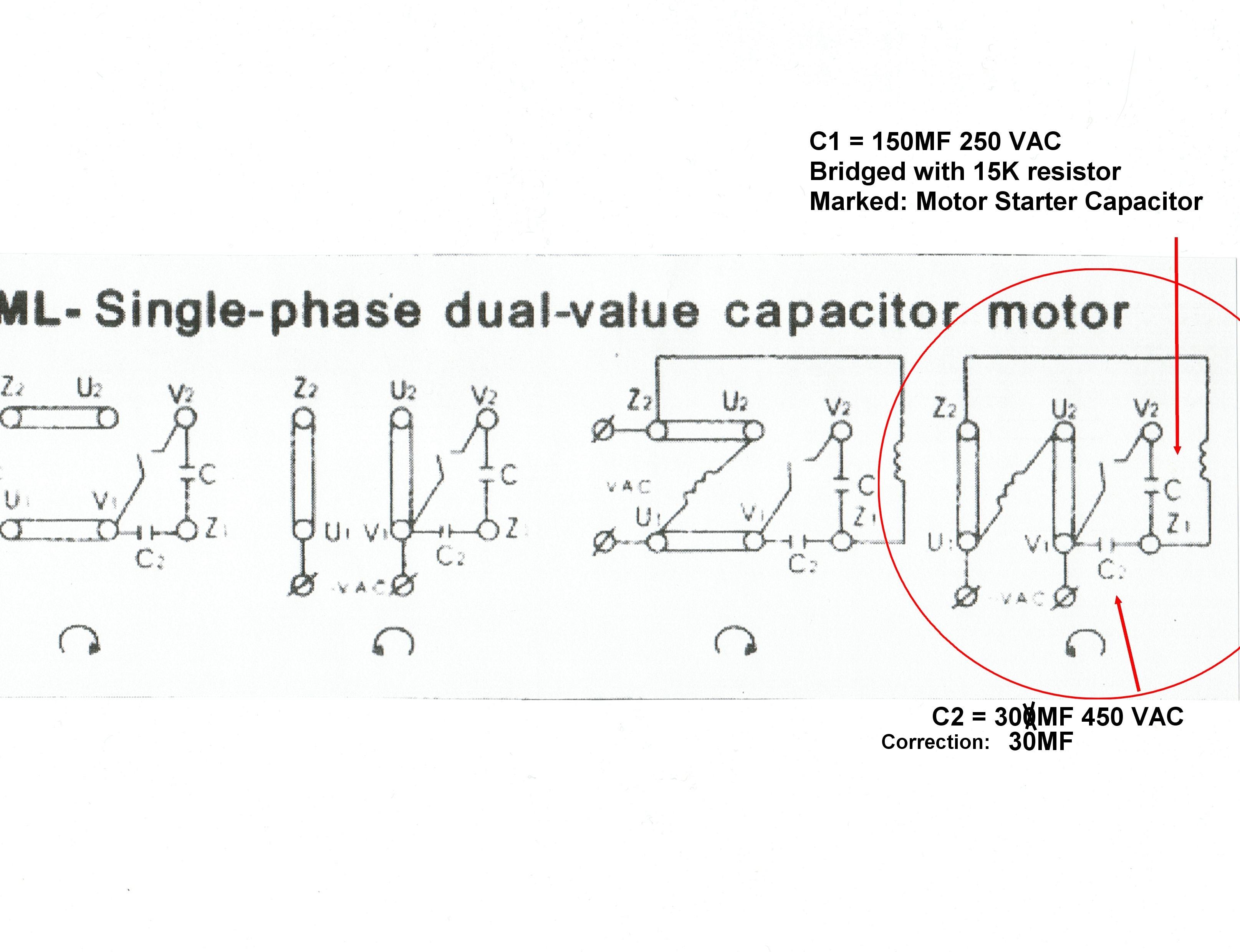 Single Phase Capacitor Motor Wiring Diagrams | Wiring Diagram - Single Phase Motor Wiring Diagram With Capacitor