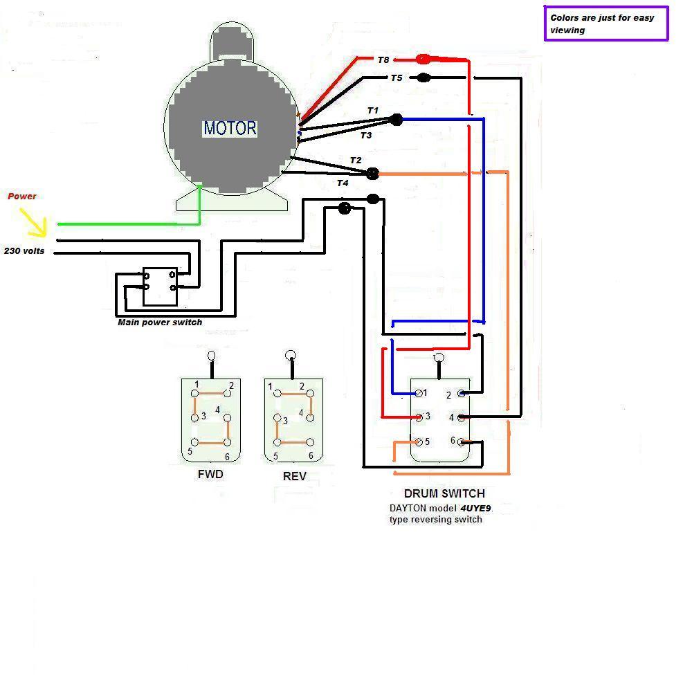 Single Phase Motor Wiring Diagram Forward Reverse | Manual E-Books - Reversing Single Phase Motor Wiring Diagram