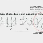 Single Phase Motor Wiring Diagram With Capacitor Start Run   Single Phase Motor Wiring Diagram With Capacitor Start