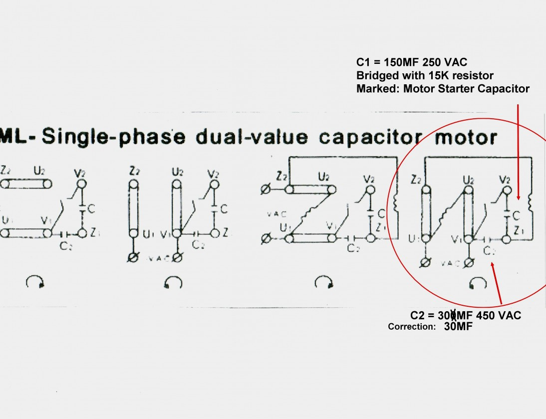 Single Phase Motor Wiring Diagram With Capacitor Start Run - Single Phase Motor Wiring Diagram With Capacitor Start