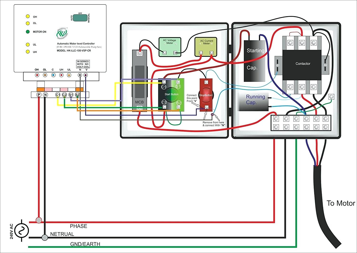 Single Phase Submersible Pump Starter Wiring Diagram 3 Wire Well - 3 Wire Submersible Pump Wiring Diagram