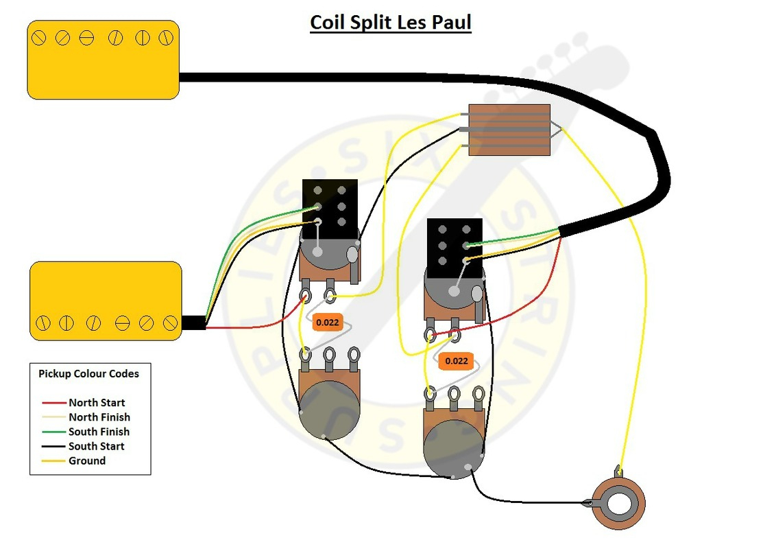 Six String Supplies — Coil Split Les Paul Wiring - Coil Tap Wiring Diagram Push Pull