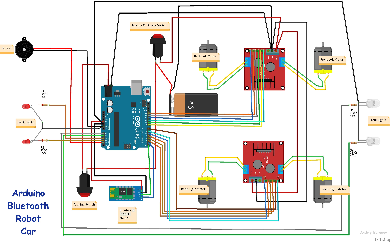 Smartphone Controlled Arduino 4Wd Robot Car - Hackster.io - Arduino Wiring Diagram