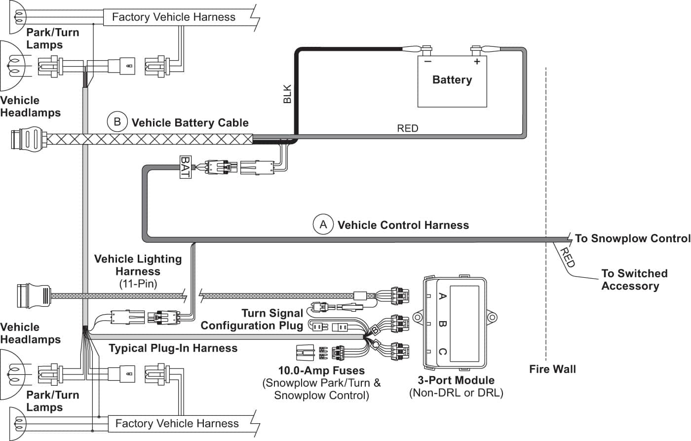 Snow Plow Wiring Diagram Power Unit - Wiring Diagram Data - Boss Snow Plow Wiring Diagram