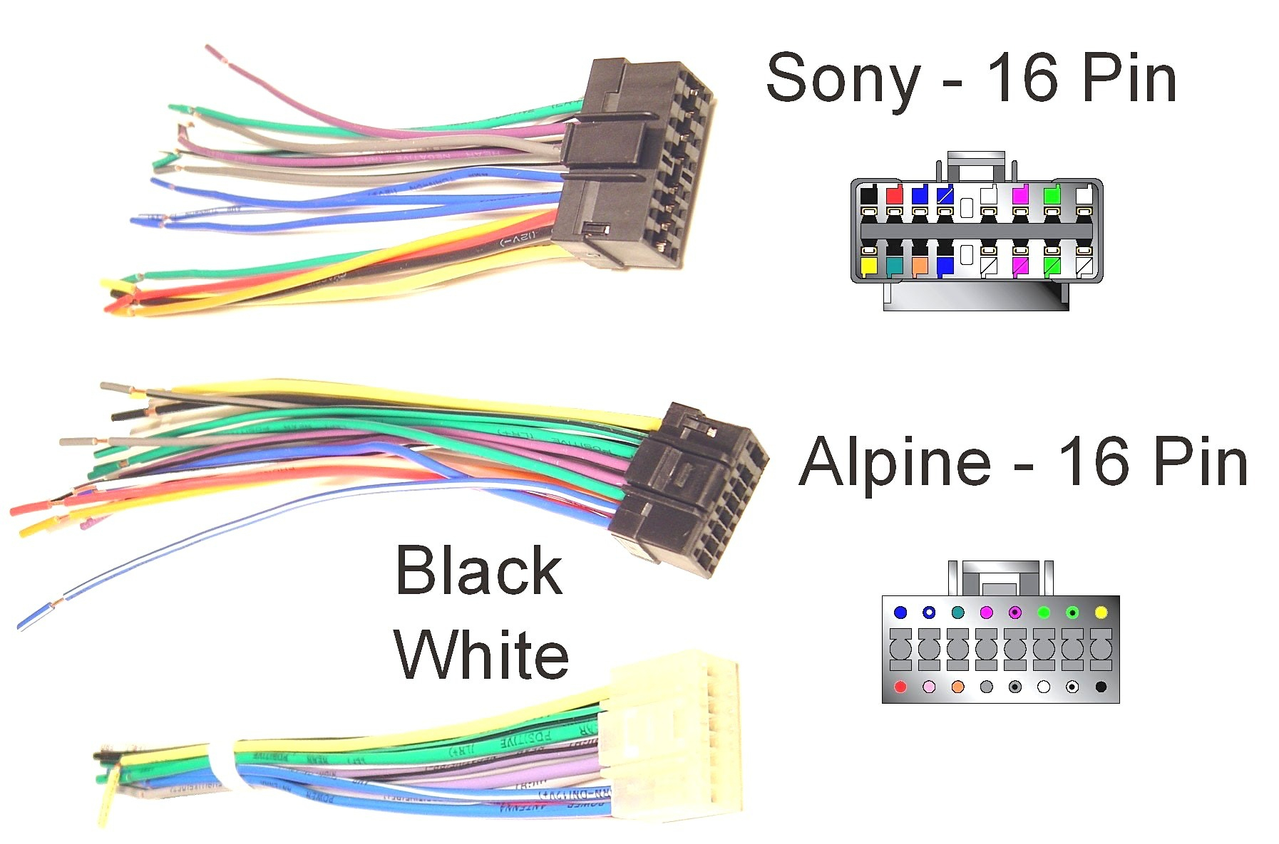 Sony Xplod Car Stereo Wiring Diagram