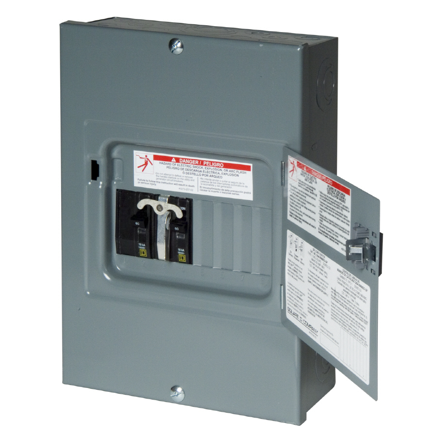 Square D 8-Circuit 8-Space 60-Amp Main Breaker Load Center At Lowes - 30 Amp Sub Panel Wiring Diagram
