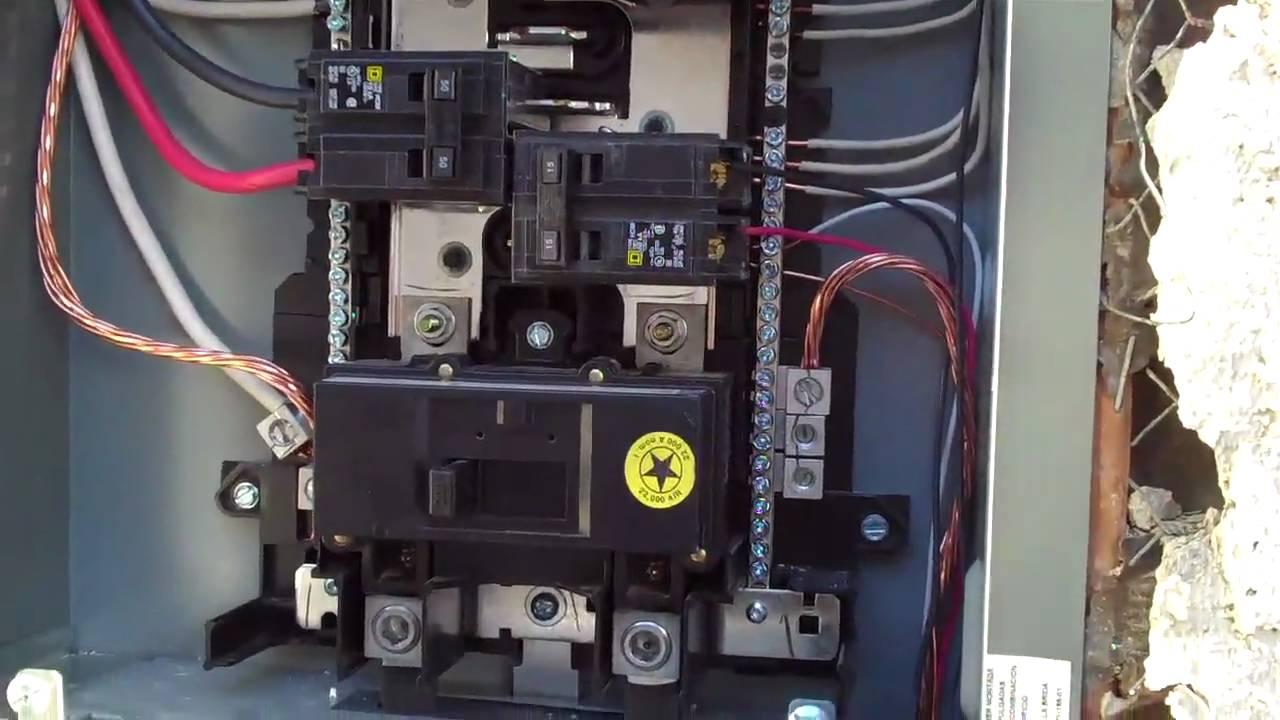 Square D Breaker Box Wiring Diagram - Wiring Diagram Name - Square D 100 Amp Panel Wiring Diagram