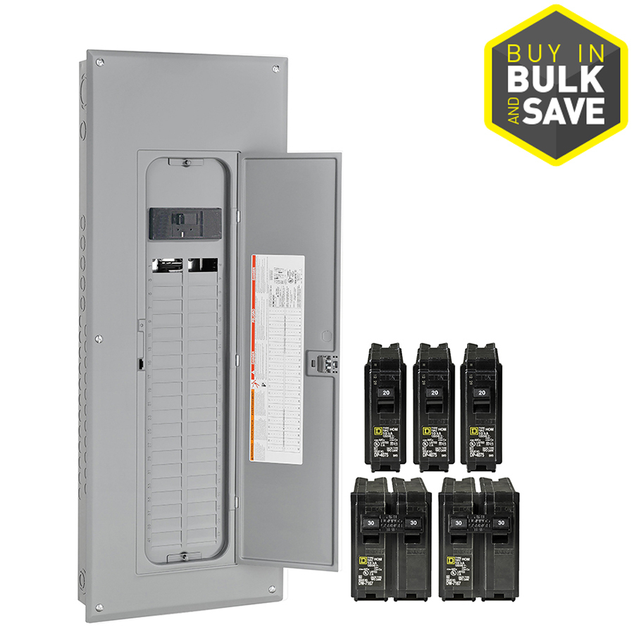 Square D Homeline 80-Circuit 40-Space 200-Amp Main Breaker Plug-On - 200 Amp Meter Base Wiring Diagram