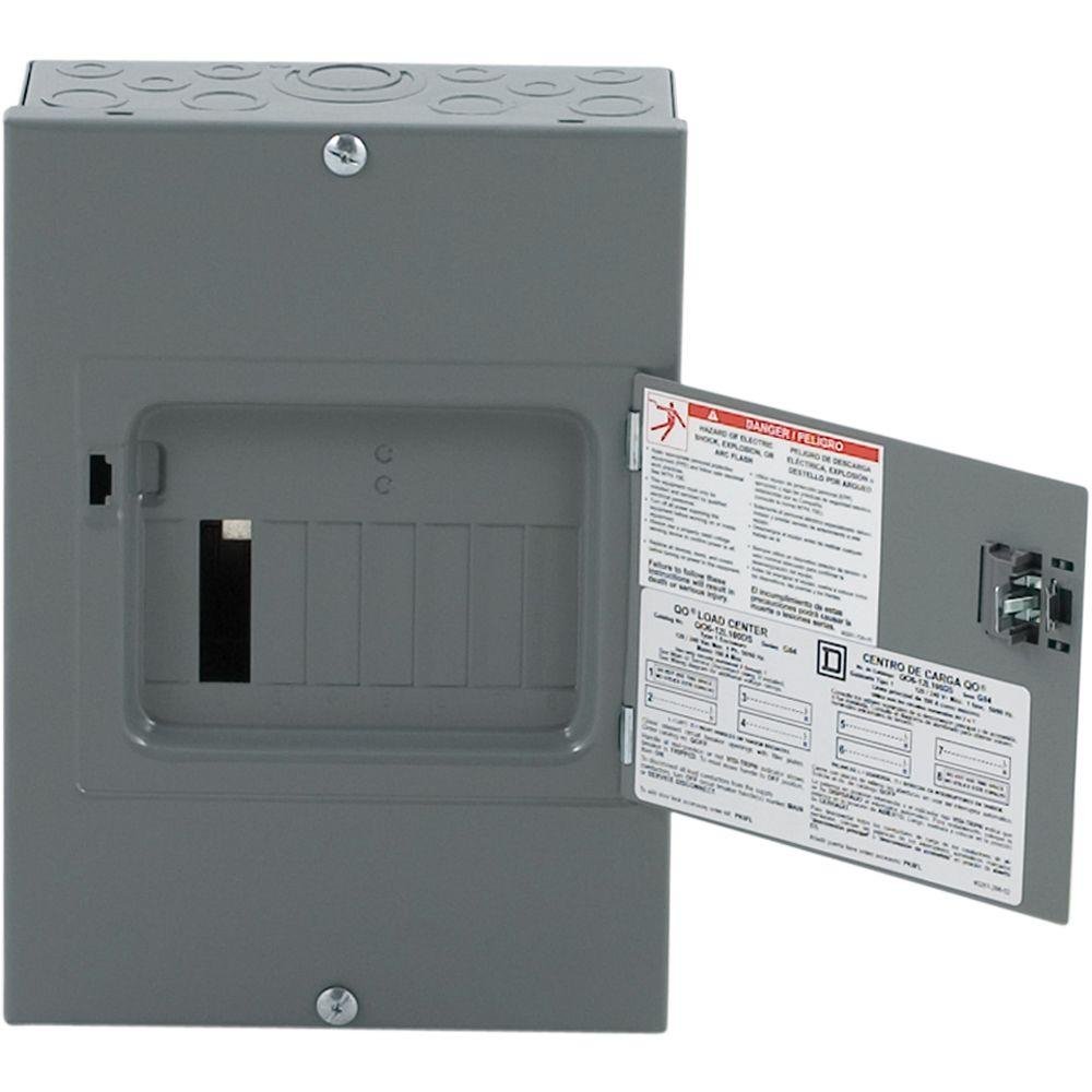 Square D Qo 100 Amp 6-Space 12-Circuit Indoor Main Lug Load Center - Square D Qo Load Center Wiring Diagram