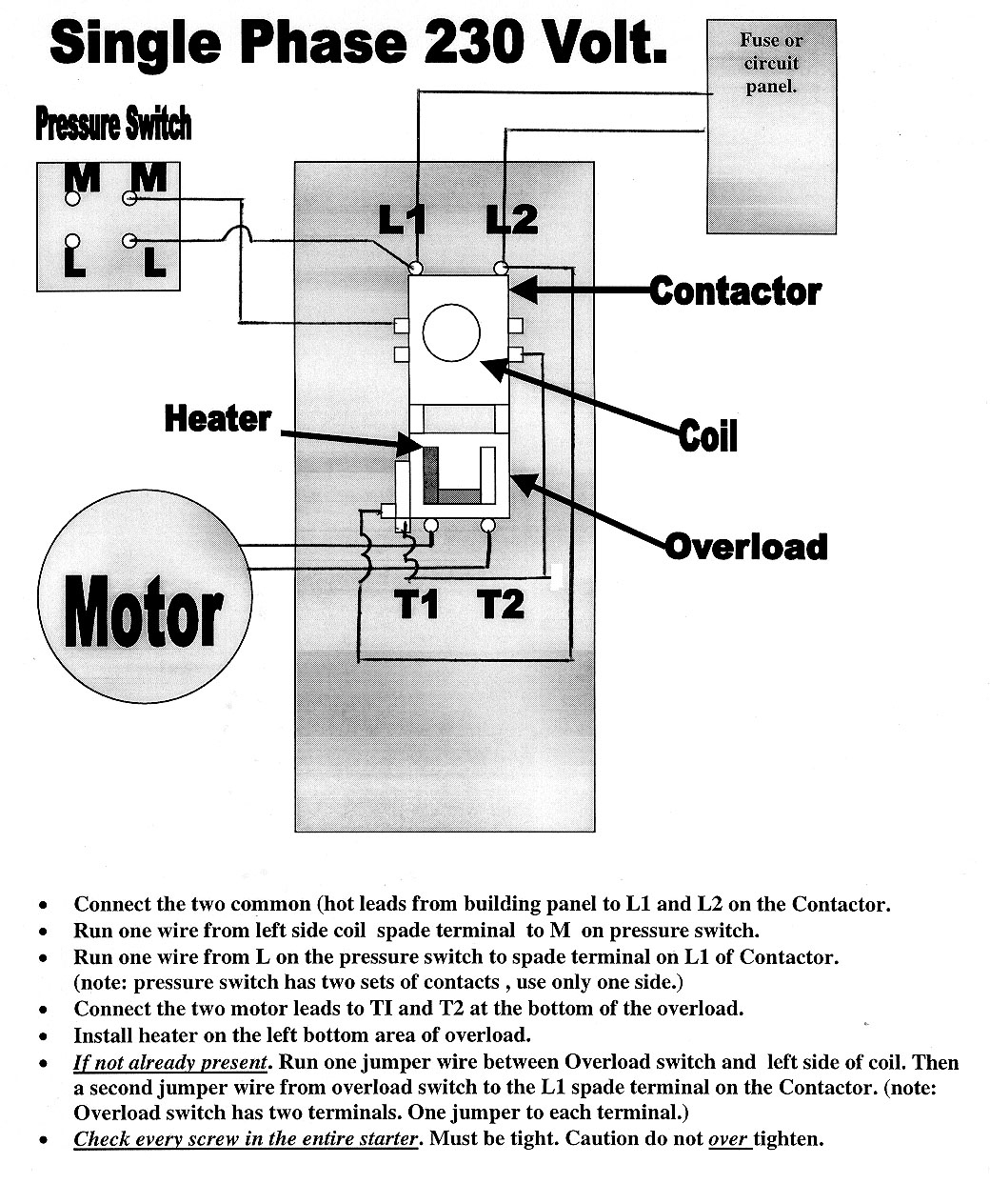 Square D Starters - Square D Motor Starter Wiring Diagram