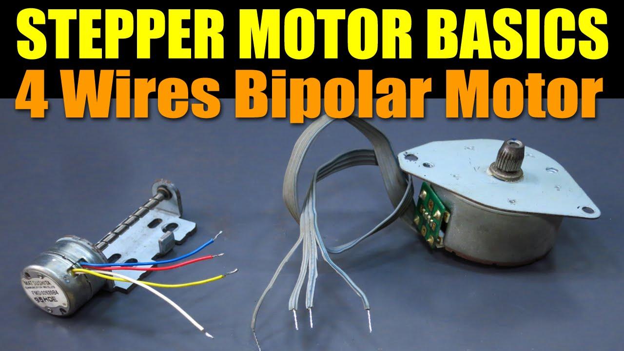 Stepper Motor Basics - 4 Wires Bipolar Motor - Youtube - 4 Wire Motor Wiring Diagram