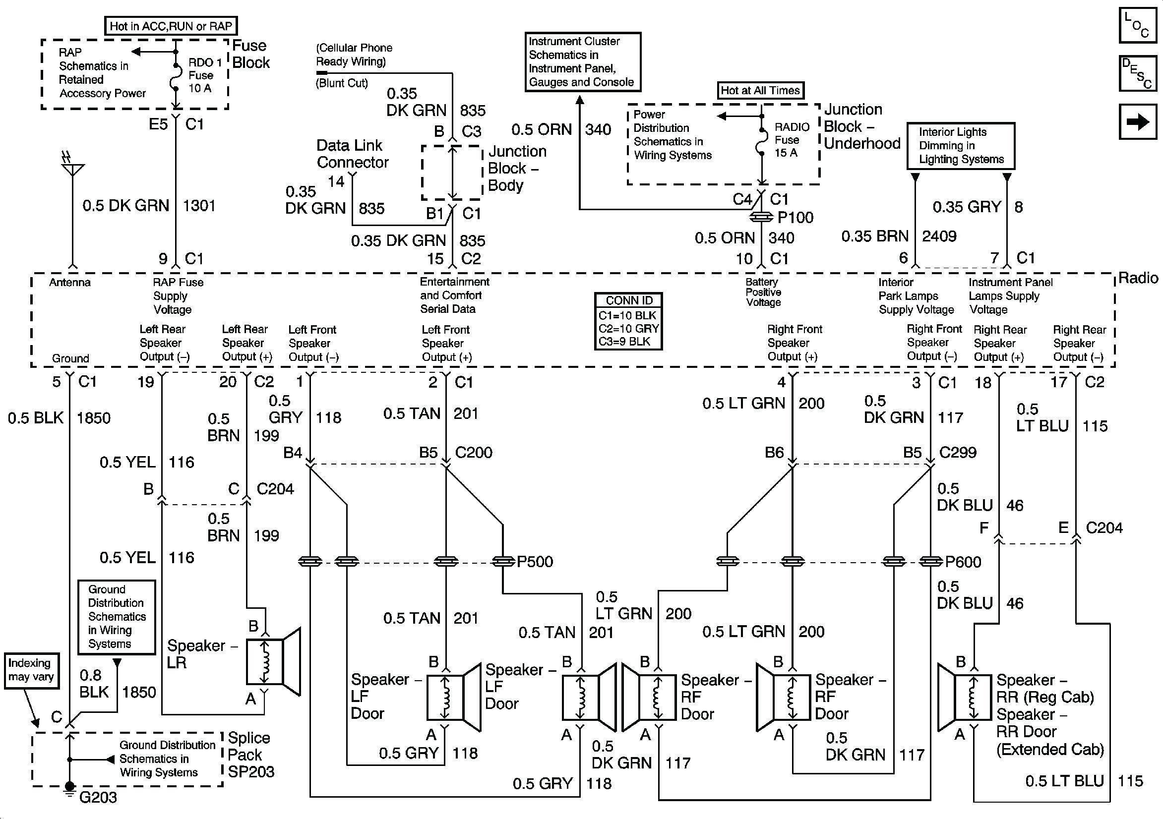 Stereo Wiring Diagram For 2003 Chevy Silverado - Wiring Diagrams - 2003 Chevy Silverado Radio Wiring Diagram