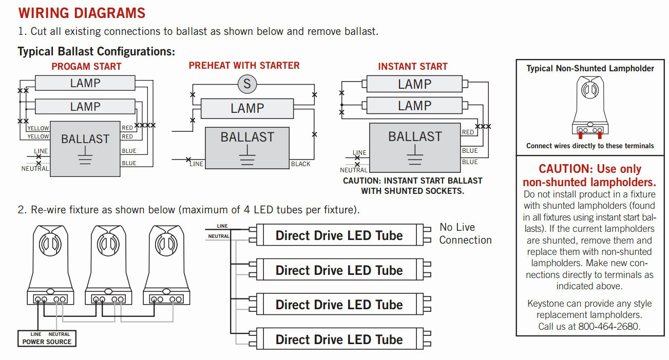 T12 Ballast Wiring Diagram 1 Lamp And 2 Lamp T12Ho Magnetic - T12 Ballast Wiring Diagram