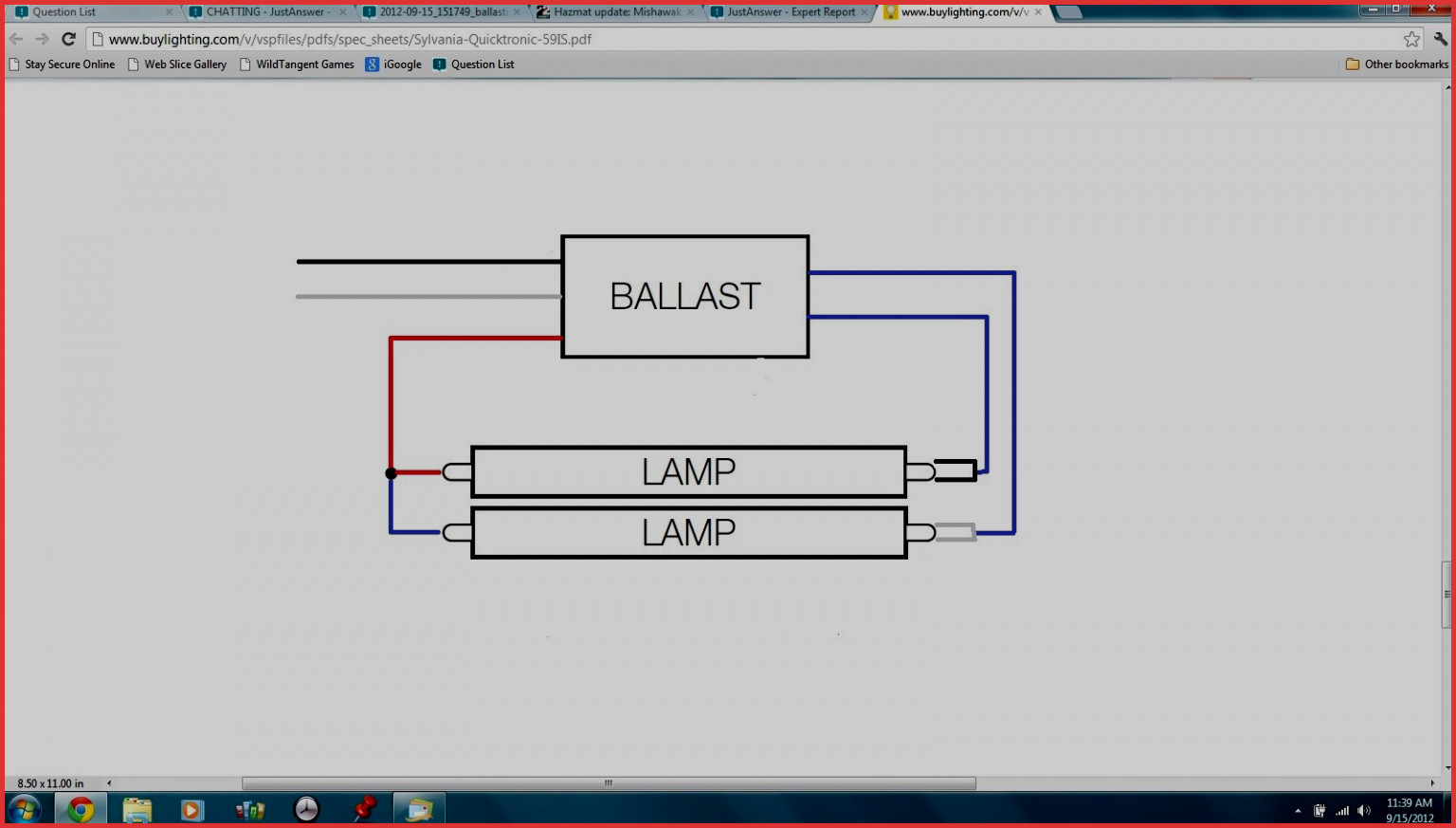 T12 To T8 Wiring Diagram | Manual E-Books - 2-Lamp T8 Ballast Wiring Diagram