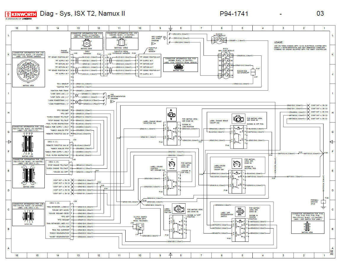 T660 Wiring Diagram | Wiring Diagram - Kenworth Wiring Diagram Pdf