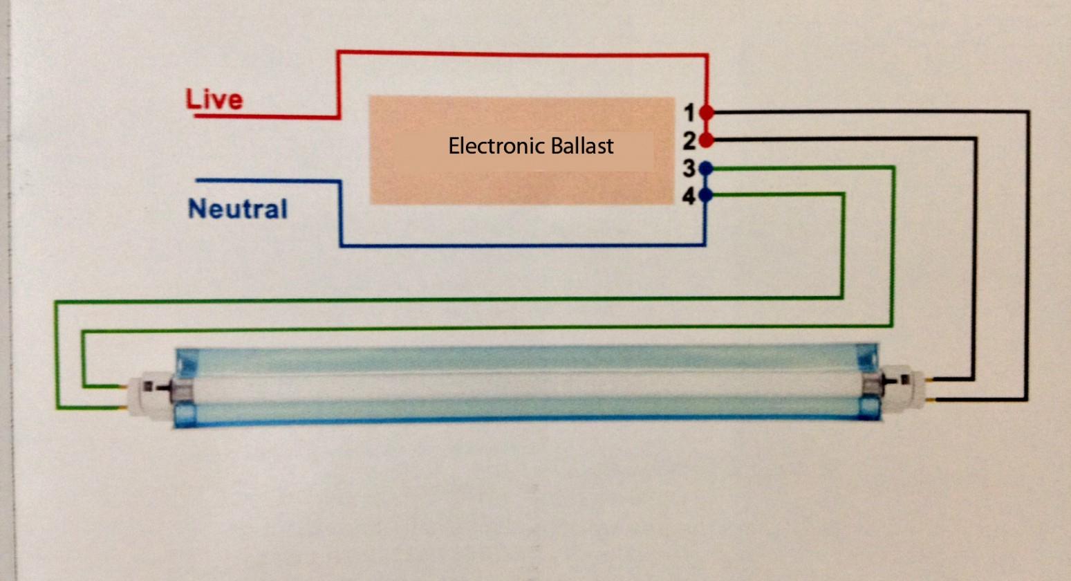 T8 Fluorescent Light Wire Diagram   Manual E-Books - Fluorescent Ballast Wiring Diagram