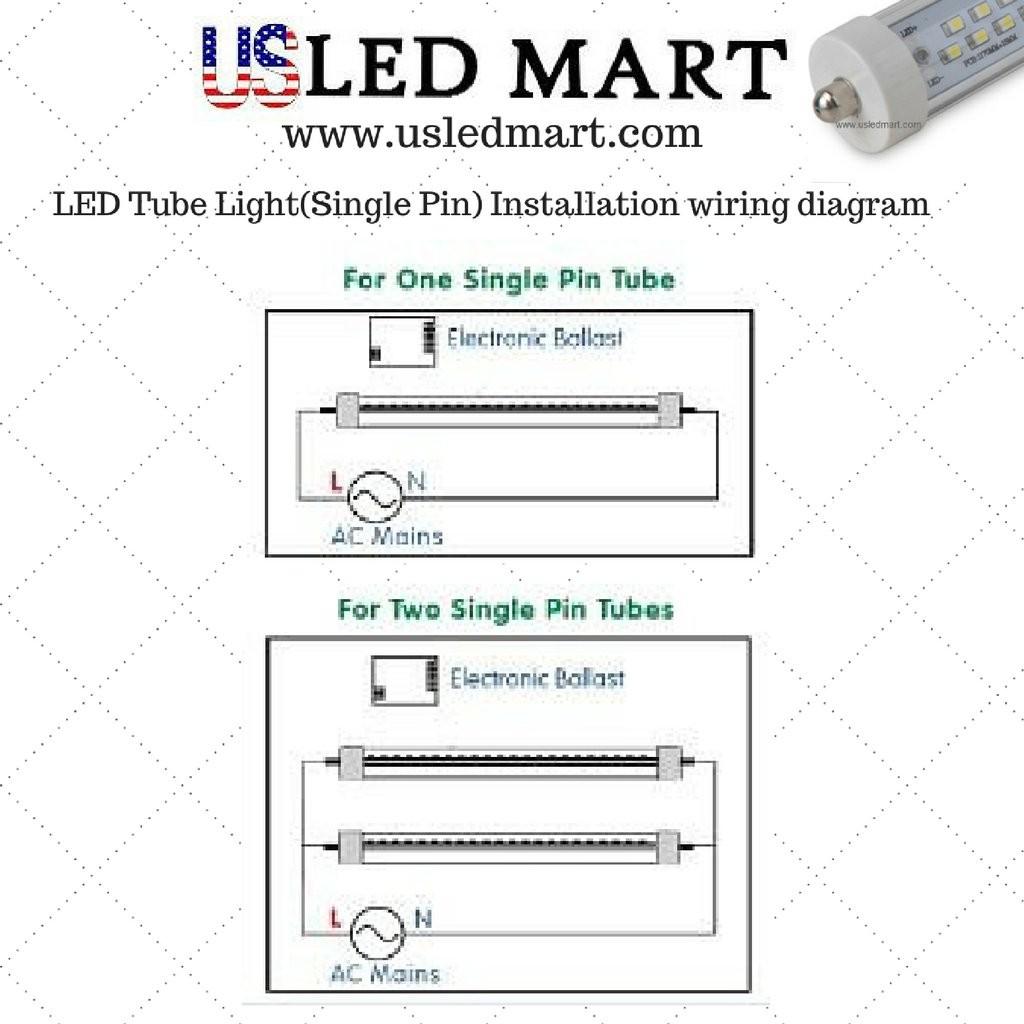T8 Led Tube Wiring Diagram Convert Fluorescent To Luxury Within - T8 Led Tube Wiring Diagram