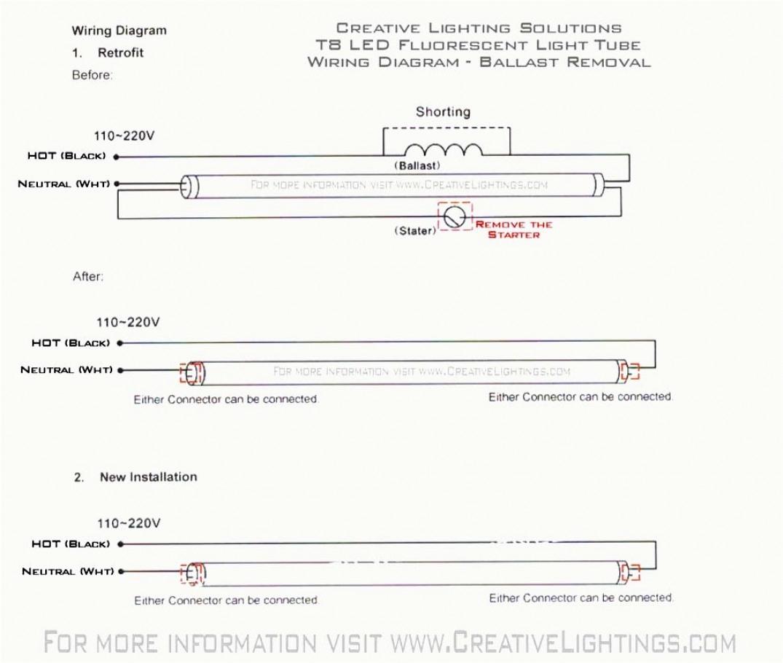 T8 Led Tube Wiring Diagram - Online Wiring Diagram - Led Fluorescent Tube Replacement Wiring Diagram
