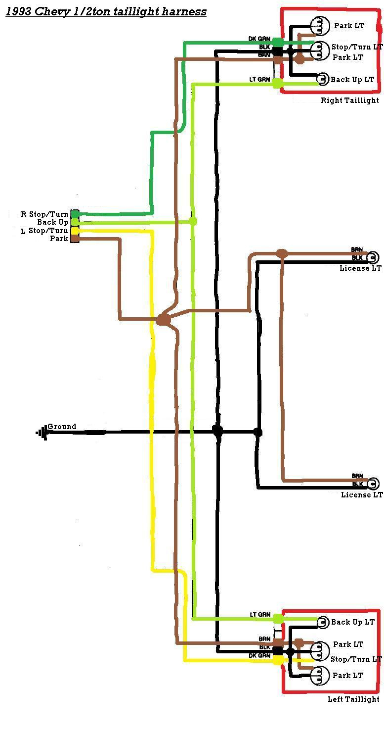 Tail Light Wiring Diagram Chevy S10 | Wiring Diagram - Tail Light Wiring Diagram