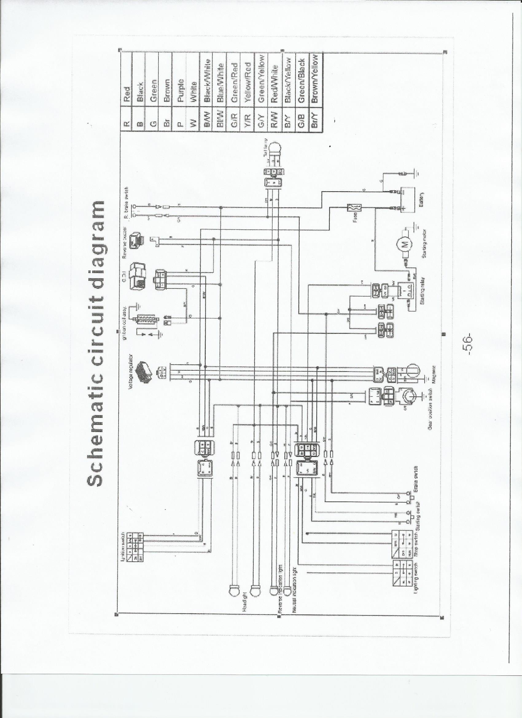 Tao Tao Wiring Schematic In Tao Tao 125 Atv Wiring Diagram - Wiring - Taotao 125 Atv Wiring Diagram