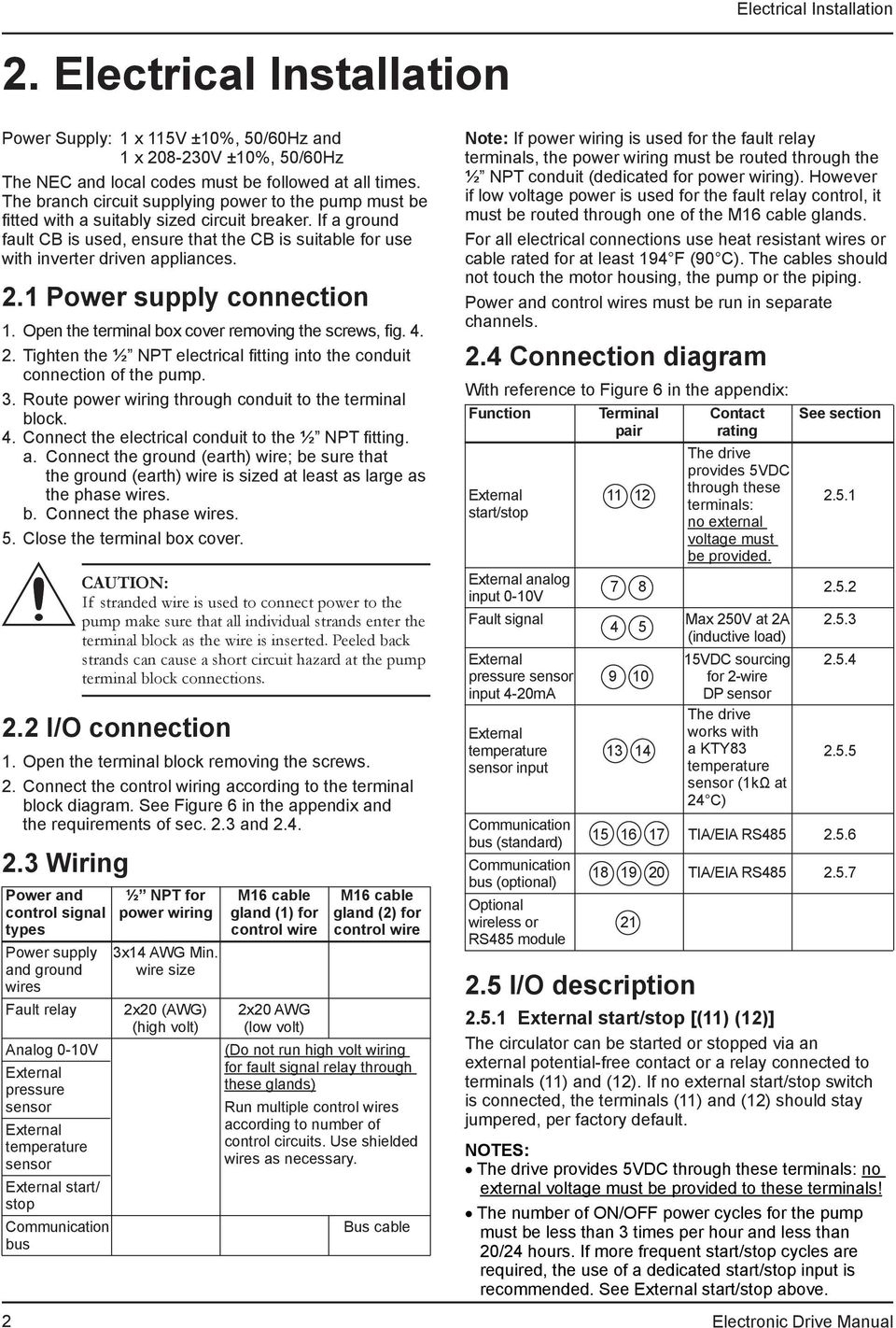 Technical Brochure P Ecocirc Xl Electronic Drive Manual - Pdf - Start Stop Switch Wiring Diagram