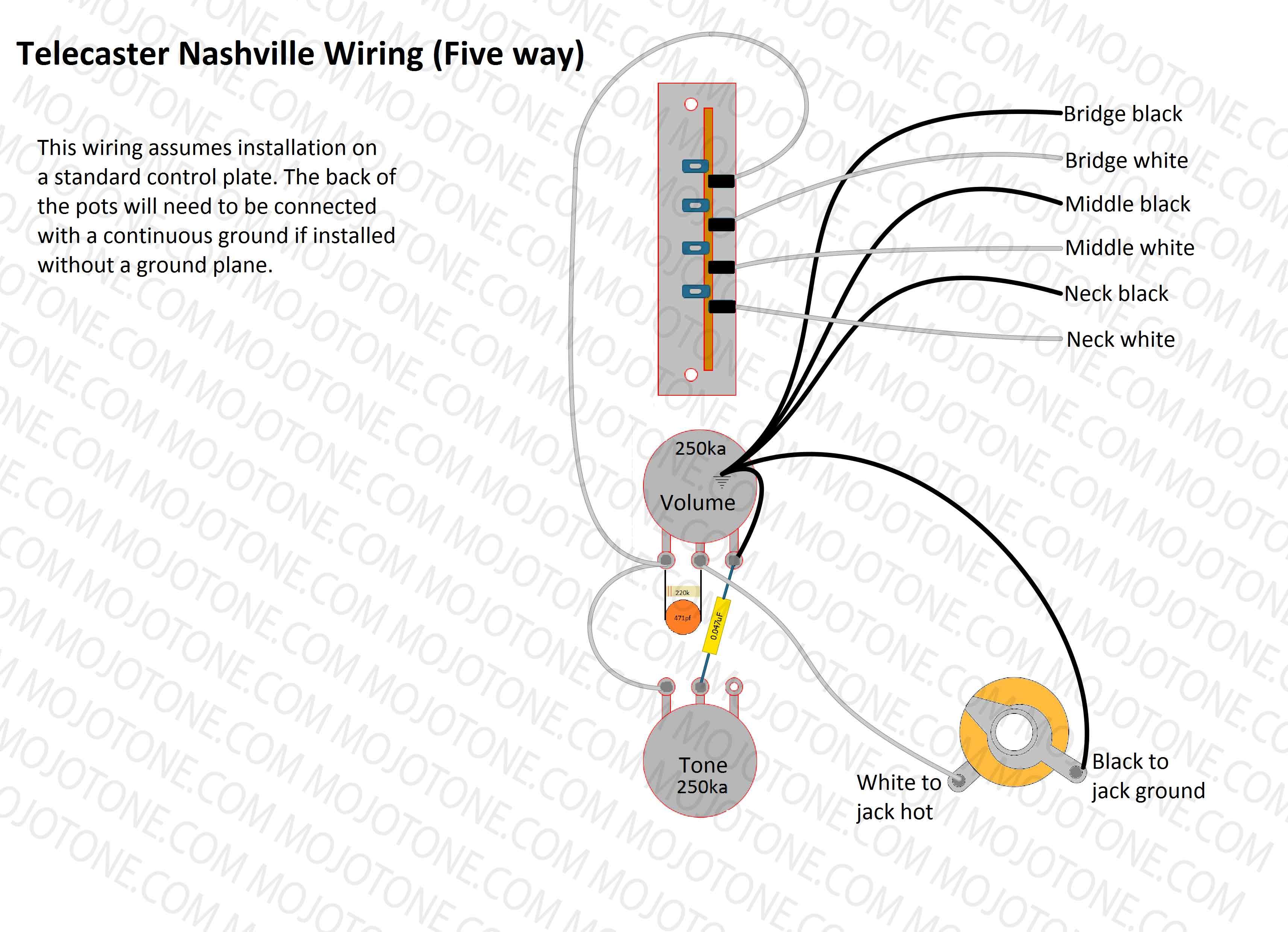 Telecaster Nashville Wiring Diagram - Jazzmaster Wiring Diagram