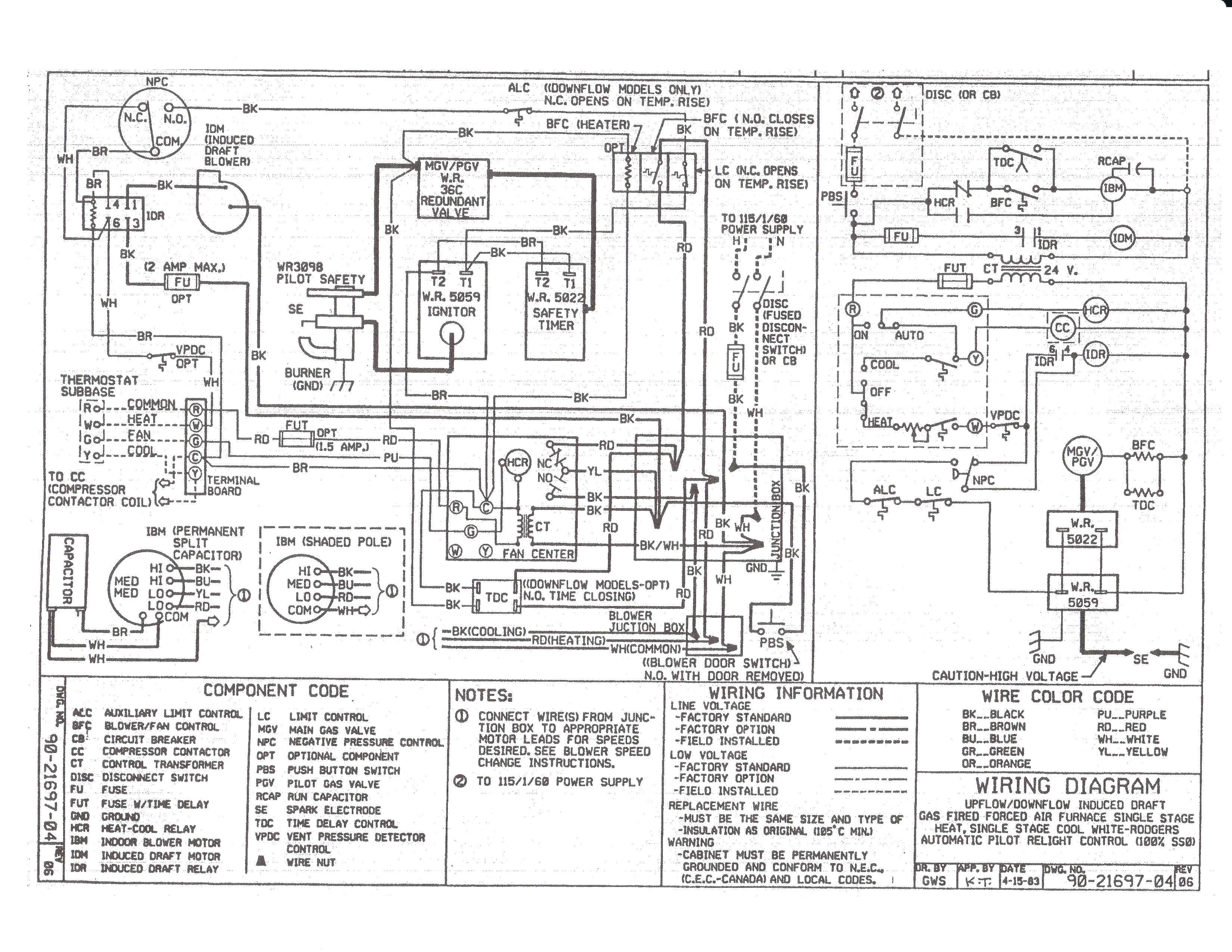 Tempstar Furnace Diagram - Wiring Diagram Data Oreo - Furnace Thermostat Wiring Diagram