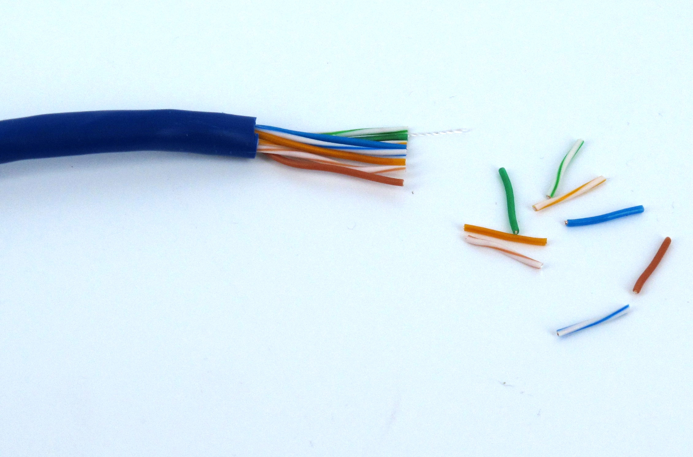 Terminating Cat5 /5E/6 Wires With Standard Rj45 Tips - Sewelldirect - Cat 5 Wiring Diagram Wall Jack