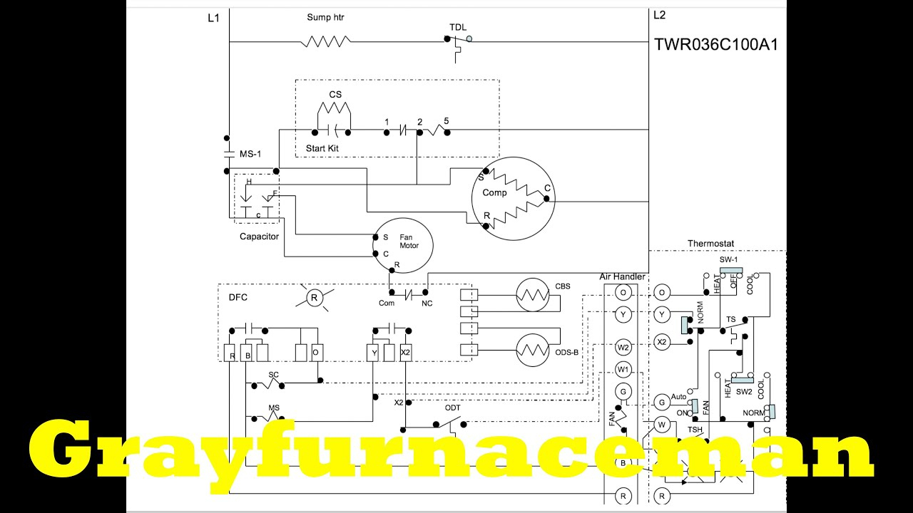 The Heat Pump Wiring Diagram, Overview - Youtube - Trane Heat Pump Wiring Diagram