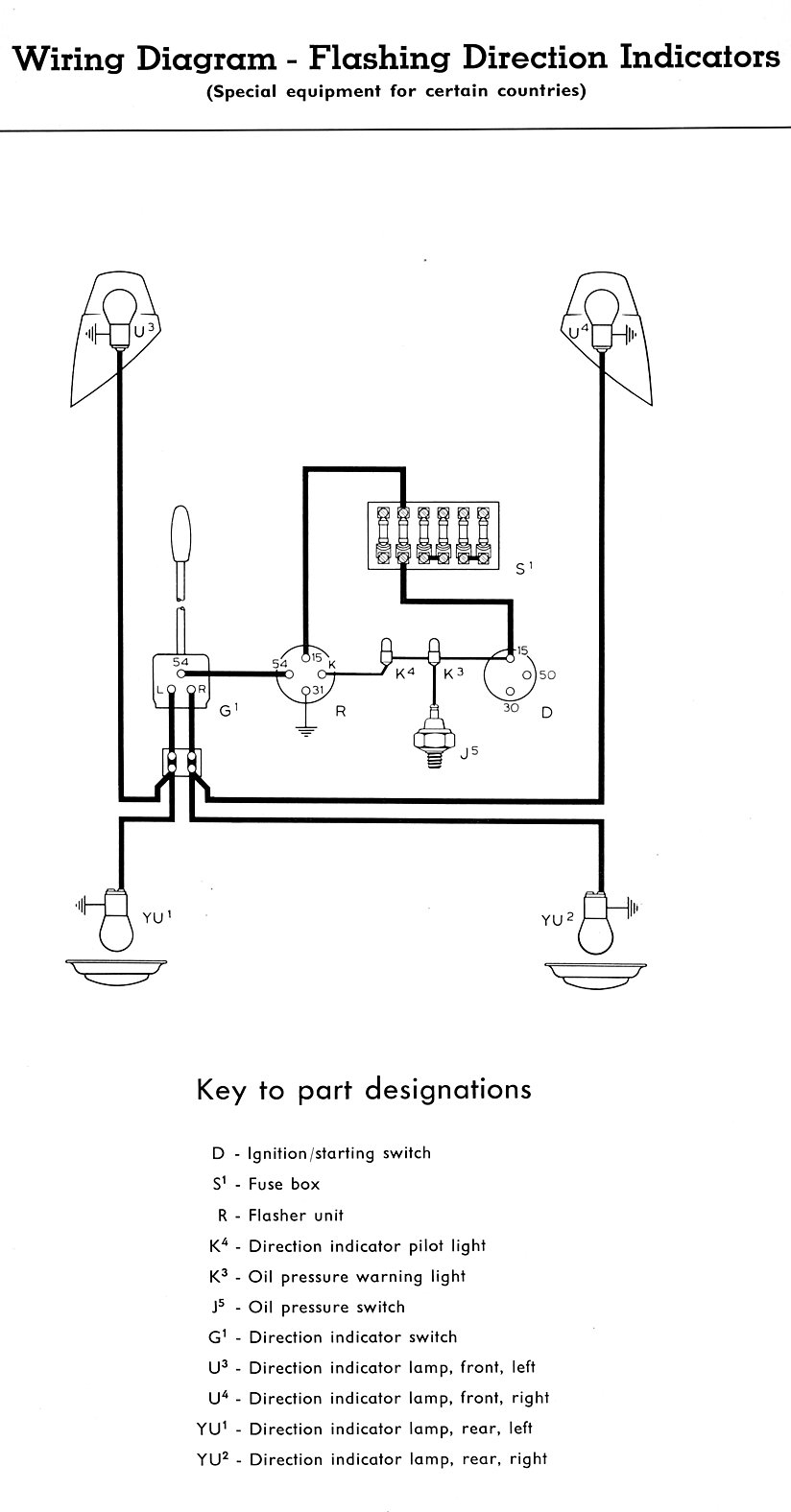 Thesamba :: Type 2 Wiring Diagrams - Brake And Turn Signal Wiring Diagram
