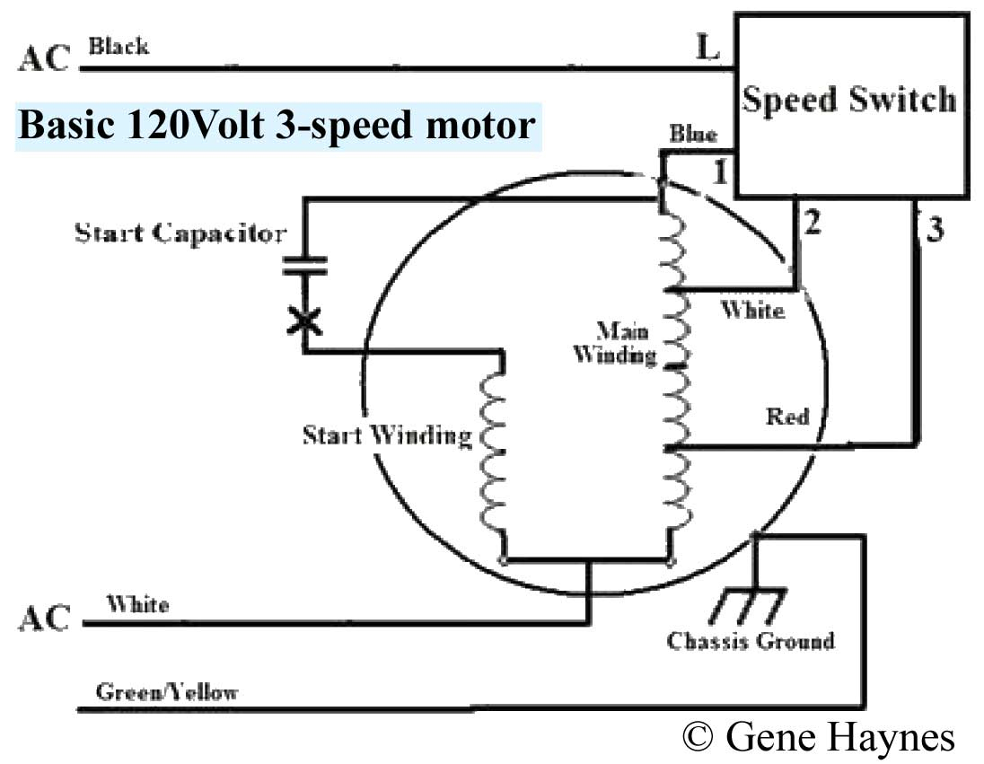 Three Speed Furnace Fan Motor Wiring | Wiring Diagram - 3 Speed Fan Motor Wiring Diagram