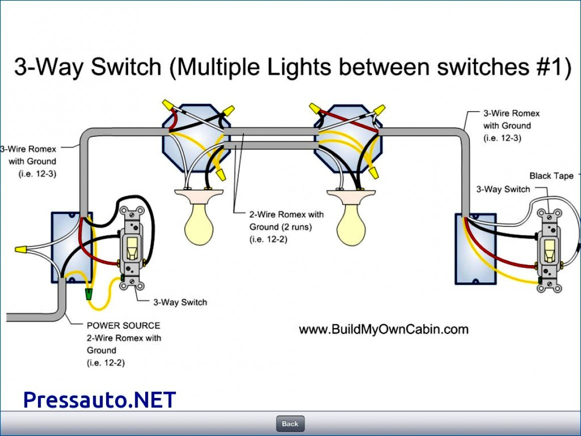 Three Way Light Switch Light Wiring Diagram For Two - Simple Wiring - 3 Way Light Switch Wiring Diagram Multiple Lights