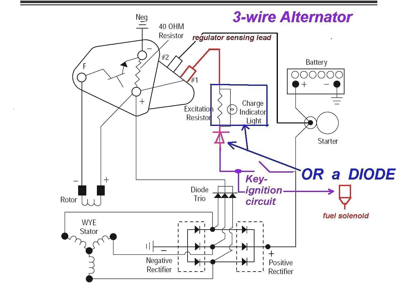 Three Wire Gm Alternator Wiring | Wiring Diagram - Gm 4 Wire Alternator Wiring Diagram