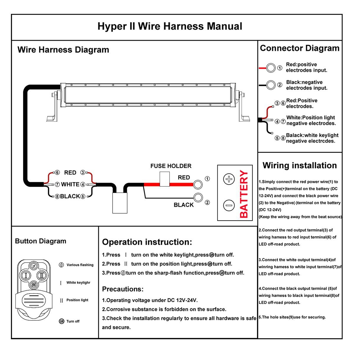 Three Wire Led Auto Switch Diagram | Wiring Library - Led Light Bar Wiring Harness Diagram