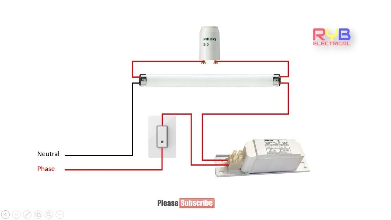 Tube Light Circuit Diagram How To Make Fluorescent Tube Light Wiring - Fluorescent Light Wiring Diagram