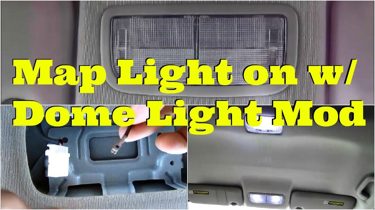 Tutorial: Map Light On With Dome Light Mod -Diycarmodz - Youtube - Dome Light Wiring Diagram