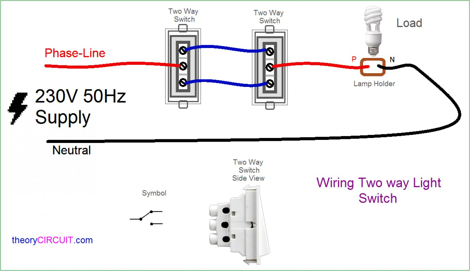Two Switch Light Wiring Diagram Overhead - Schematics Wiring Diagram - Wiring Two Lights To One Switch Diagram