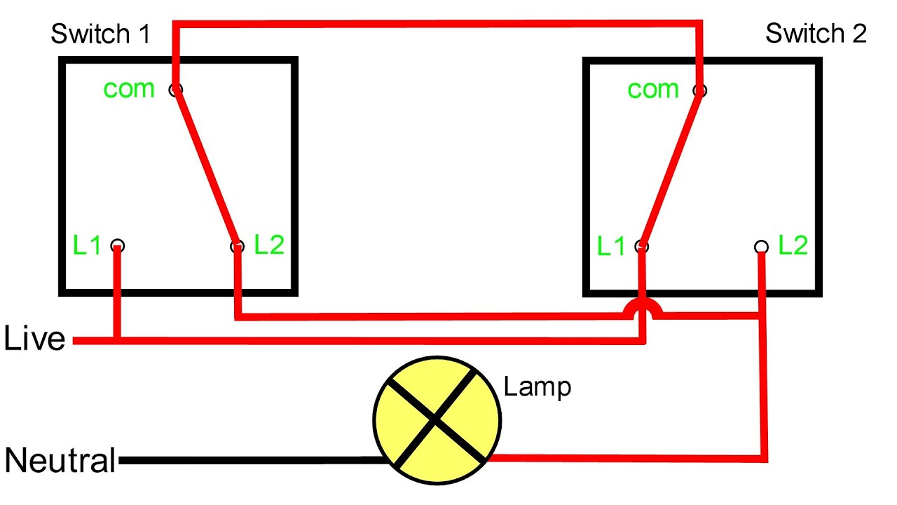 Two Way Light Switching Explained - Youtube - 2 Way Switch Wiring Diagram Pdf
