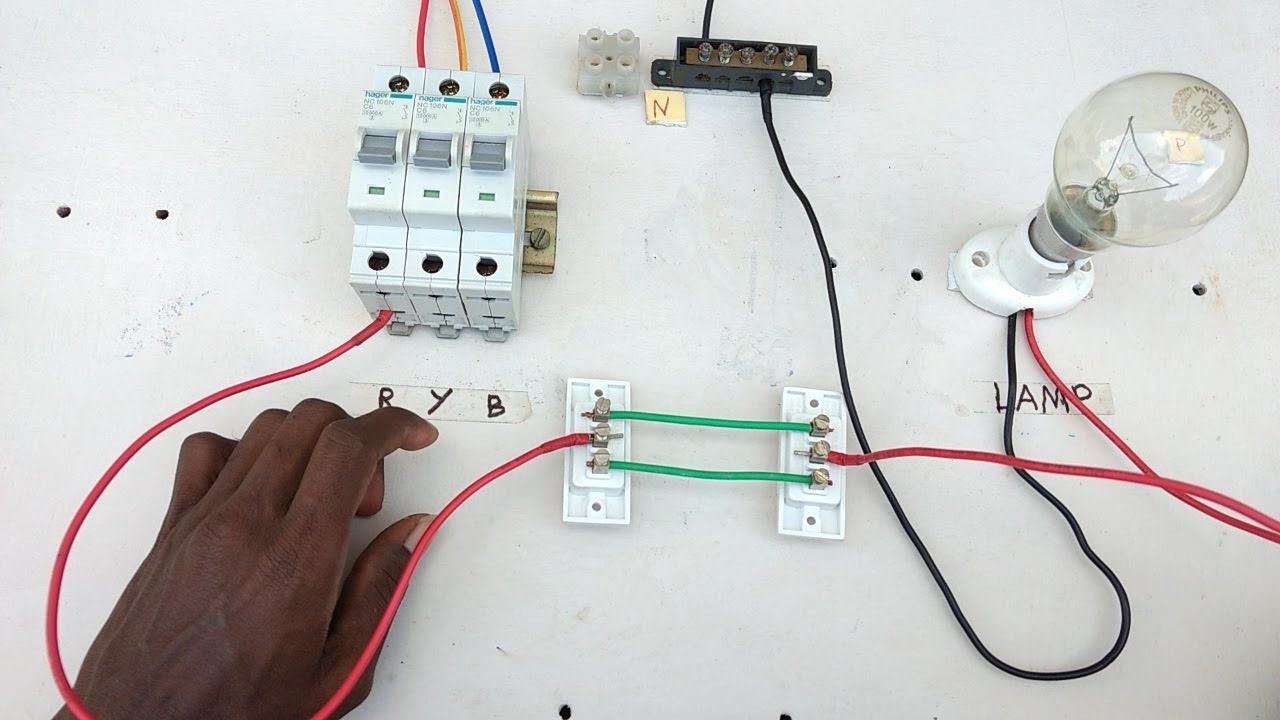 Two Way Switch Connection Type 1 - Electrical Videos In Tamil ,two - Two Way Switch Wiring Diagram