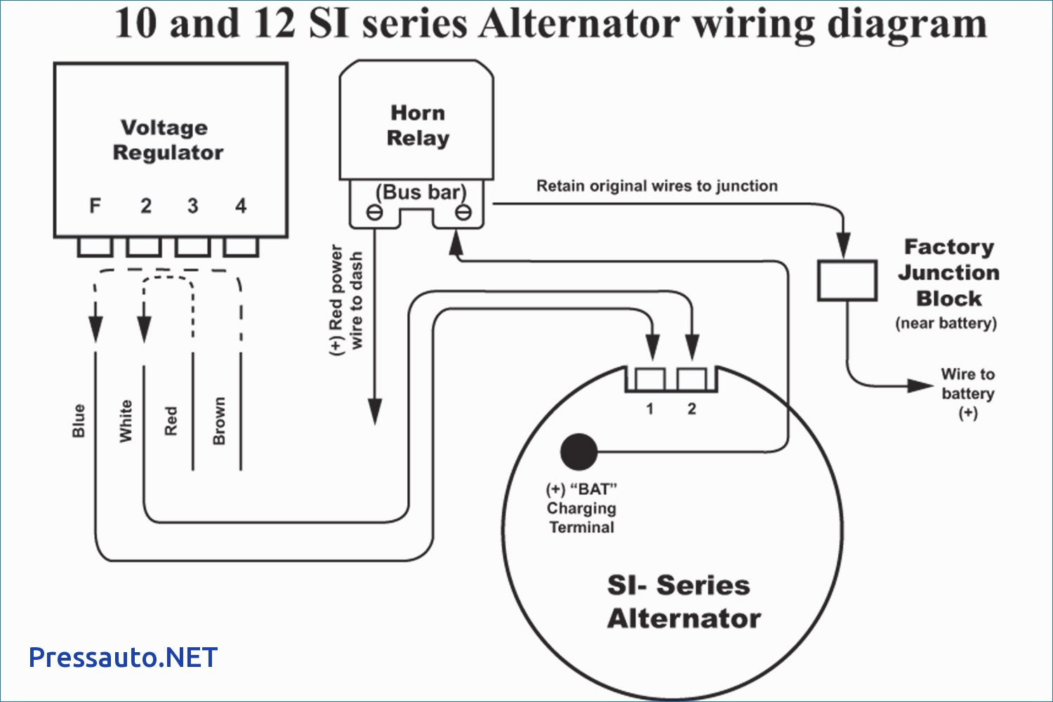 Two Wire Alternator Wiring - Data Wiring Diagram Today - One Wire Alternator Wiring Diagram Ford